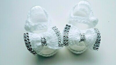 Baby Crochet Knitting Hand Shoes Trainers Sneakers Clothes Socks Hats Caps Boots • 5.99£