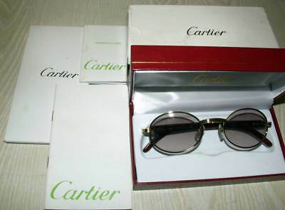 e883cdf556d Vintage Cartier Giverny Bubinga Wood Sunglasses In Box! 53X22