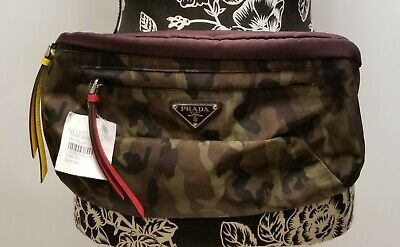 13d4c097b038 Prada Tessuto Camouflage Print Belt Bag 100% Authentic New With Tag •  649.99$
