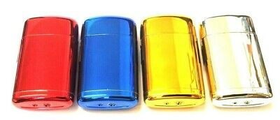 Windproof Lighter Turbo Jet Flame Gas Refillable Cigar Cigarette Shiny Lighters • 3.65£