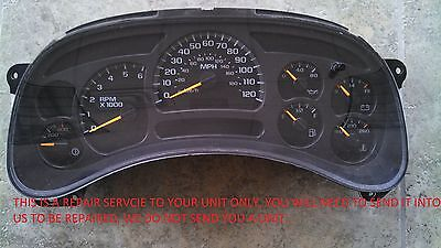 $69.99 • Buy 2003 To 2006 GM GMC CHEVROLET INSTRUMENT CLUSTER REPAIR SERVICE 2004 2005 03 06