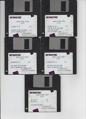 $25 • Buy Ensoniq Sl-4 Series Eps / Eps16+ / Asr 10/88 (5) Disk Set