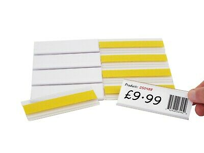 Self-Adhesive Ticket Label Holders 38mm High X 70mm Long EPOS Strips Pack Of 100 • 37.62£