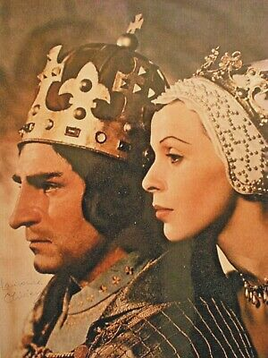 Laurence Olivier Signed Photo As  Richard Iii  With Claire Bloom-authentic Coa • 30.80£