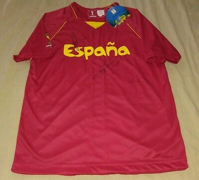 £107.38 • Buy FERNANDO TORRES JUANFRAN KOKE Hand Signed Autograph Spain Jersey 2010 WC Champs