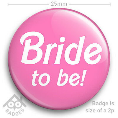 £0.99 • Buy BRIDE TO BE Hen Party Do Wedding Chief Bridesmaid  Maid Of Honour 25mm 1  Badge