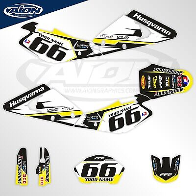 $185.34 • Buy Husqvarna Graphics Kit For A 2002-2004 TE TC 250-450 Decals With Custom Rider ID