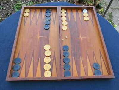 £70.27 • Buy Old Antique Wooden Hand Made Backgammon With All Pieces Checkers