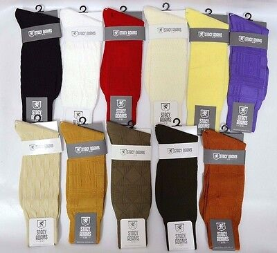 $9.99 • Buy Mens Stacy Adams Socks Solid Color Dress Casual Many Colors