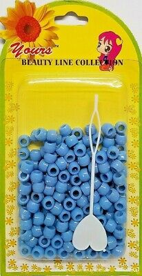 $4.79 • Buy YOURS Plastic Hair Beads Braid Pony Ball 6 X 8 Mm NEW Sky Blue 250 Pcs