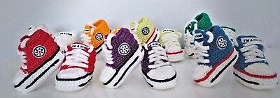Baby Crochet Knitting Hand Shoes Trainers Sneakers Clothes Socks Hats Caps Boots • 4.80£