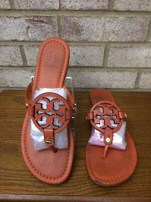 412f54b946a8 TORY BURCH Miller Thong Sandals Size 10 Orange Leather Flip Flops