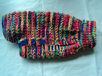 £9.50 • Buy Hand Knitted 10.5 Inch Jumper/Coat For Small Dog/Cat/Puppy Chihuahua Yorkie