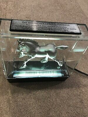 $ CDN130.80 • Buy Bud Light Beer Sign Light Clydesdale Horse Lighted Box Bar Back Display Statue