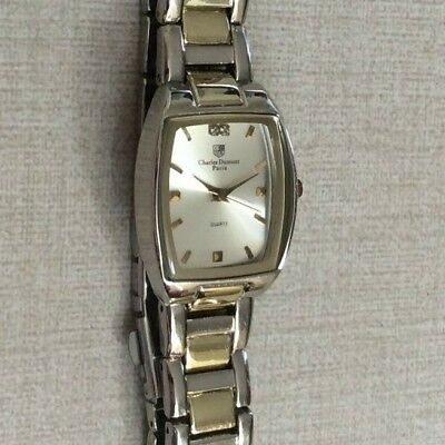 c41bb9e1a Charles Dumont Paris Men's Watch Rectangle Silver Dial Two Tone Linked Band  New! • 22.50