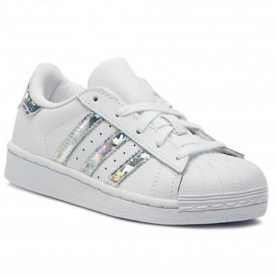 best website e6779 21d72 Scarpe Adidas Superstar Iridescent CG6708 Bambina Bianco Pelle Lacci Nuovo  Shoes • 59.00€