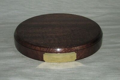 £15.99 • Buy Engraved Hardwood Display Plinths Bases Stands Solid Mahogany Oak Wood All Sizes