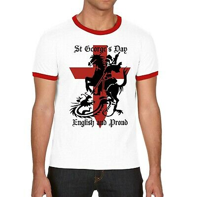 St George's Day Knight & Dragon England Mens T Shirt • 8.99£