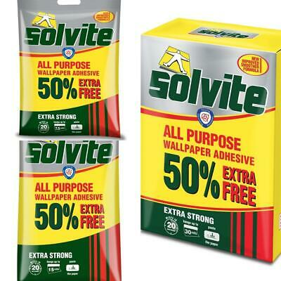 £3.75 • Buy Solvite All Purpose Extra Strong Wallpaper Adhesive Quick Easy Mixing Glue Paste