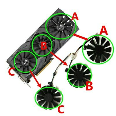 $ CDN22.33 • Buy Cooler Graphics Fan For ASUS RX VEGA 64/56 RX480 RX580 GTX 1080/1060/1070/980Ti