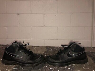 49d88c308d23 Nike The Overplay VII Mens Leather Athletic Basketball Shoes Size 15 Black  Gray • 40.00