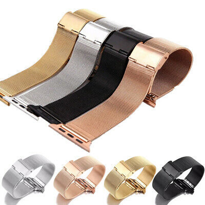 AU14.34 • Buy Milanese Loop Stainless Steel Band Replacement Strap For IWatch Series 5 4 3 2 1