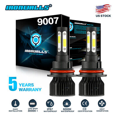 $23.99 • Buy 9007 6-sides LED Headlight Hi/Lo Bulbs For Ford F-150 1992-2003 F-250 1992-1999