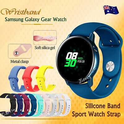 AU6.99 • Buy Replacement Silicone Sports Wrist Band For Samsung Galaxy Watch 3 41mm Active 2