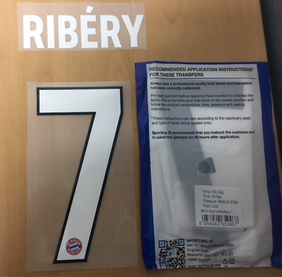 $25 • Buy Sporting ID Official Adidas Bayern Munich Home Nameset Print RIBERY 7 18/19