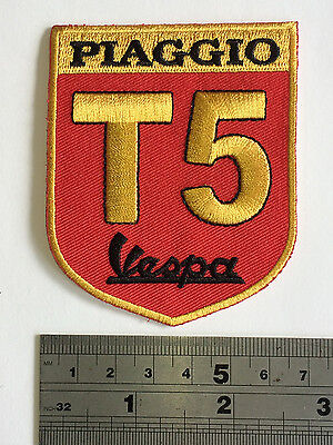 £3.75 • Buy Vespa T5 RED Patch - Embroidered - Iron Or Sew On