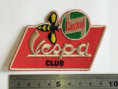 £3.75 • Buy Vespa Club Castrol Wasp Patch - Embroidered - Iron Or Sew On