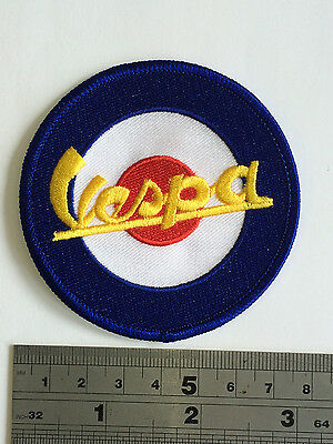 £3.75 • Buy Vespa Target Patch - Embroidered - Iron Or Sew On