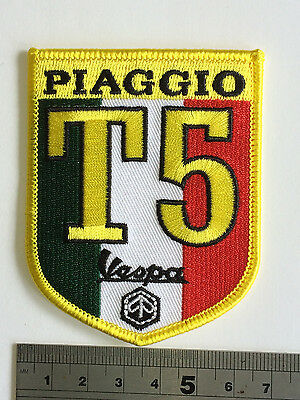 £3.75 • Buy Vespa T5 Ital Patch - Embroidered - Iron Or Sew On