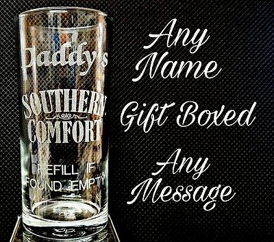 Personalised Southern Comfort Glass Best Man Gift Father Of The Bride Gift  • 8.99£