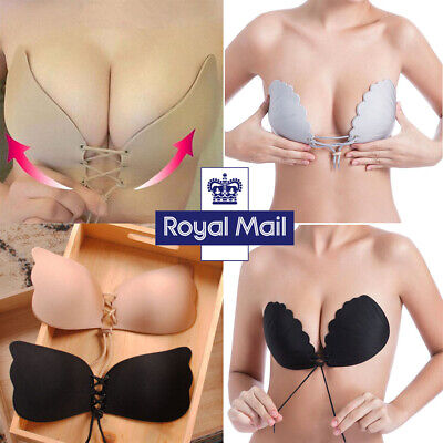 Silicone Adhesive Stick On Push Up Gel Strapless Backless Wedding Invisible Bra • 6.69£