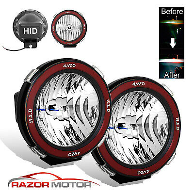 $55.89 • Buy Pair Universal 7 Inches Built-in 6000K HID 4x4 Off Road Fog Lights For SUV/Truck