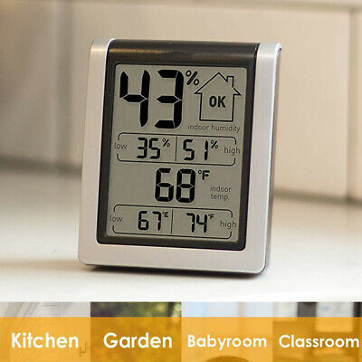 $10.85 • Buy Wireless Weather Station LCD Touch Thermometer Barometer Humidity Indoor US
