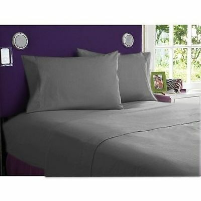 Bedding Items UK Sizes Elephant Grey Solid 1000 Thread Count Egyptian Cotton* • 111.07£