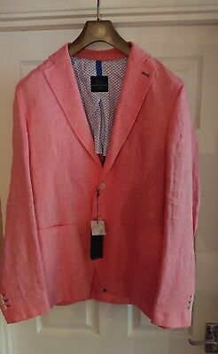 HARMONT & BLAINE New Pink Diner Jacket L  €437RRP Made In Italy • 199£