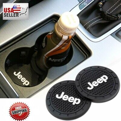 $9.99 • Buy Universal Jeep Interior Accessories Car Logo Round Can Cup Holder Insert Coaster