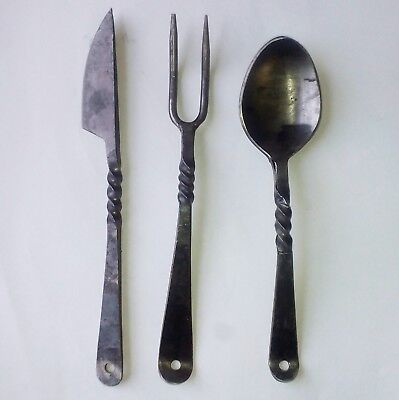 £20 • Buy Hand Forged Medieval Cutlery Re-enactment LARP Costume Pagan Cosplay Viking