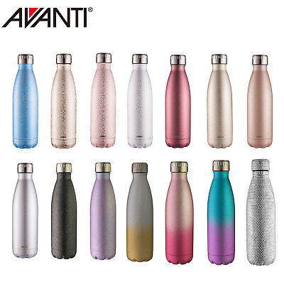AU21.50 • Buy New Avanti Fluid Twin Wall Vacuum Water Bottle 500ml Stainless Steel Thermos