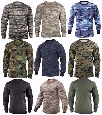 $15.99 • Buy Rothco Military Tactical Long Sleeve Camo T-Shirts - Sizes: S-2XL