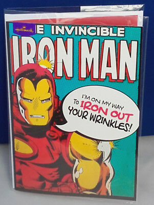Marvel Comics Iron Man Birthday Card - By Hallmark • 7.99£
