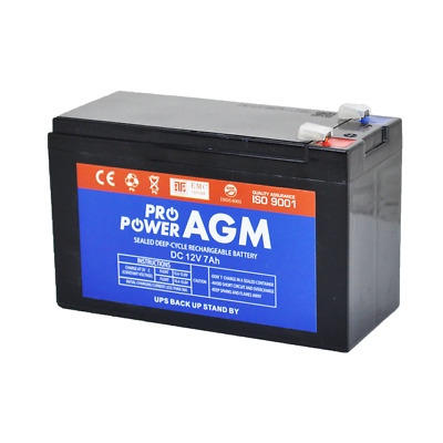 AU22.50 • Buy PRO POWER 12V 7Ah Sealed Lead Acid Alarm Security Rechargeable AGM Battery NBN