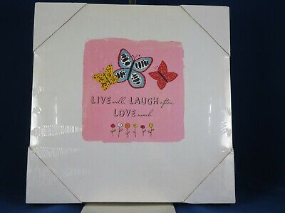 New Live Laugh Love Picture Canvas Art Wall Hanging By About Face Designs • 9.99£