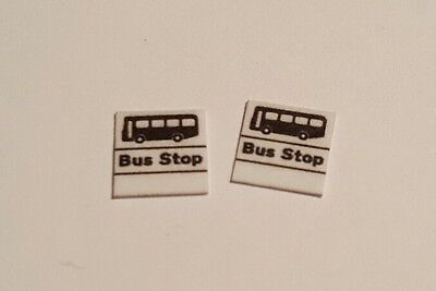 £3.50 • Buy 8 X OO Scale Bus Stop Flags (Blank - No Company Name)