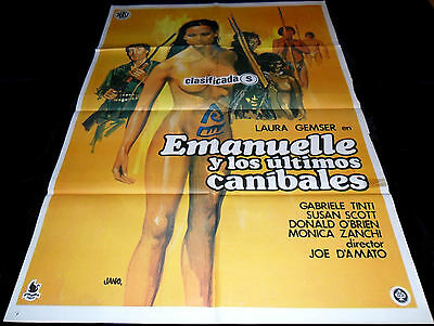 1977 Emanuelle And The Last Cannibals ORIGINAL POSTER Laura Gemser Joe D'Amato  • 64.99£