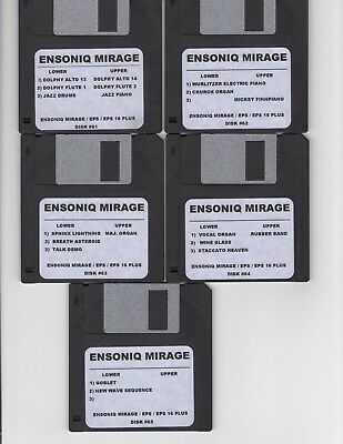 $60 • Buy Ensoniq Mirage New Disk Set #5 Mirage / Eps16+/ Complete Set