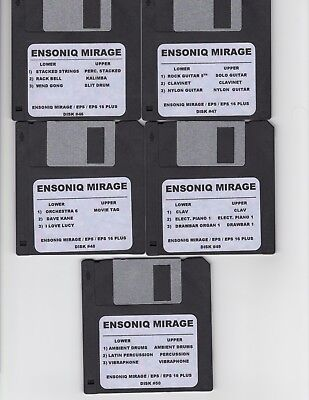$60 • Buy Ensoniq Mirage New Disk Set #4 Mirage / Eps16+/ Complete Set